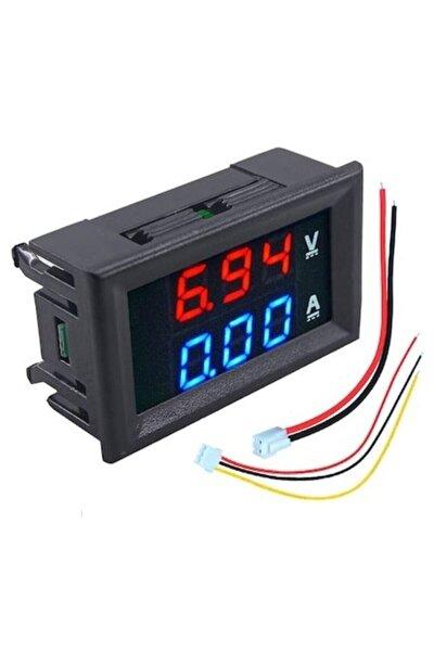 Dijital Voltmetre Ampermetre Dual Dc 0-100v 10a