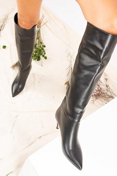 Siyah Kadın Çizme J749205309