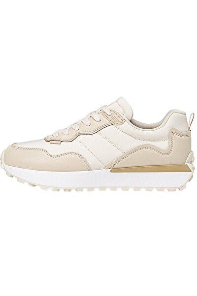 Kadın Bej Kontrast Spor Ayakkabı / Spor Ayakkabı 19019770