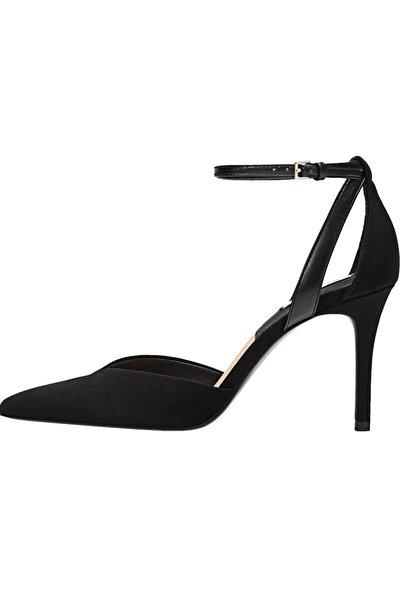 Kadın Siyah Bilekten Bantlı Yüksek Topuklu Ayakkabı 19153770