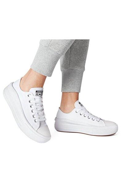 All Star Beyaz Kalın Yüksek Taban Spor Ayakkabı 570257c V2