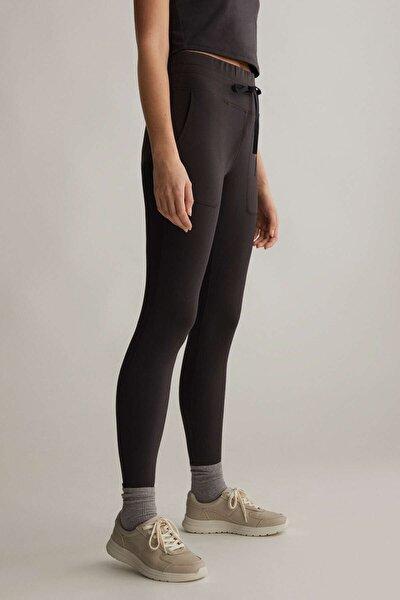 Kadın Bağcıklı Comfort Tayt Siyah 31802222
