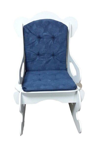 Mavi Sallanan Sandalye Yetişkin Tv Keyfim Dinlenme Koltuğu