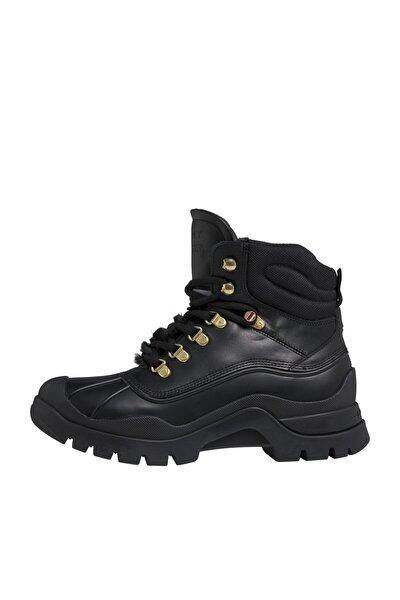 Kadın Siyah Bot & Bootie Outdoorsy Tommy Flat Boot FW0FW05195