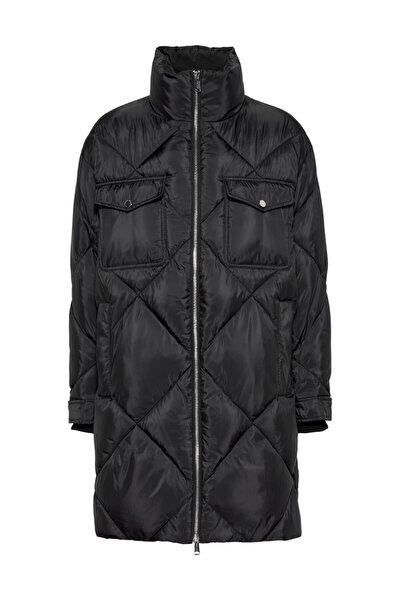 Kadın Siyah Mont Tjw Dıamond Quılted Coat DW0DW09076