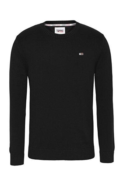 Erkek Siyah Kazak Tjm Essentıal Crew Neck Sweater DM0DM08801