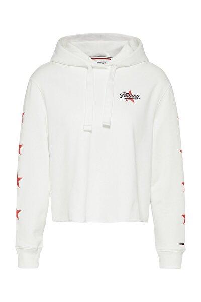 Kadın Beyaz Sweatshirt Tjw Modern Logo Hoodıe DW0DW08557