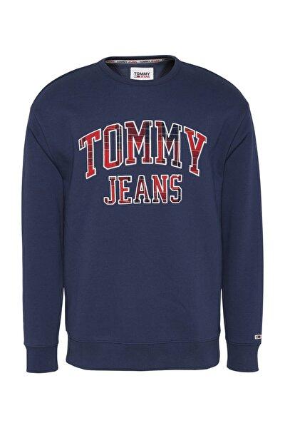 Erkek Mavi Sweatshirt Tjm Plaıd Tommy Graphıc Crew DM0DM09429