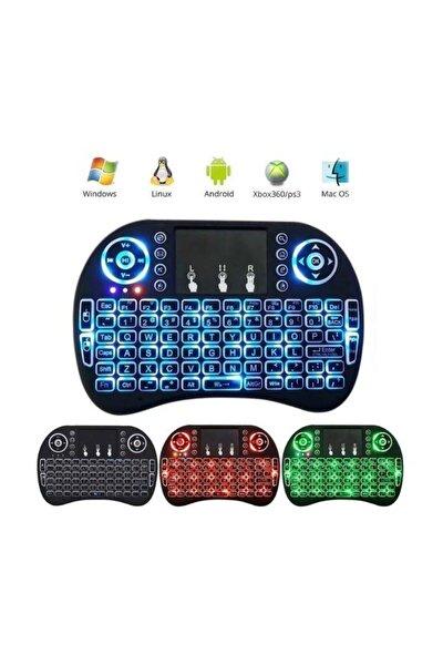 Işıklı Kablosuz Şarjlı Mini Klavye Mouse Smart Tv-Tablet-XBox