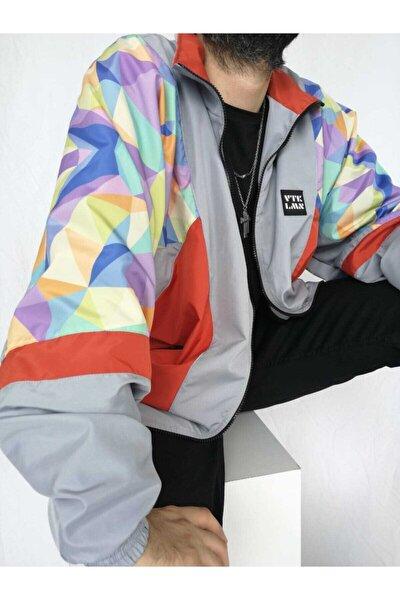 Kadın Erkek Renkli Desenli Bomber Ceket