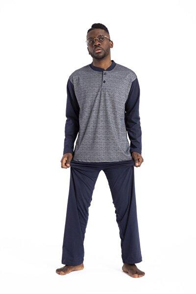 Erkek Lacivert  Pijama Takımı 1001