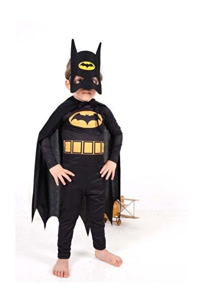 Batman Çocuk Kostümü - Maskeli Pelerinli Batman Kostümü