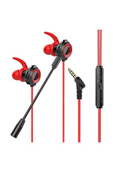 3,5mm Mobil Gaming Kırmızı Kulak Içi Mikrofonlu Kulaklık Mobil Oyuncu Kulaklığı Pubg