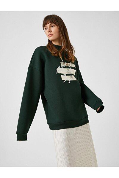 K.yeşil Kadın Sweatshirt 1kak13276ek