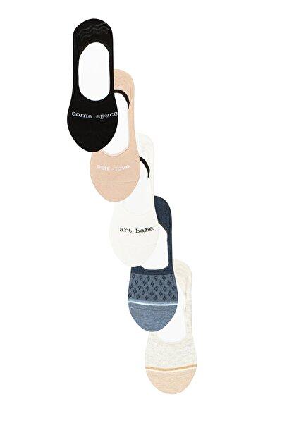 Kadın Çok Renkli Spacelove Sım 5Li Babet Çorap