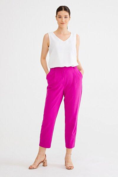 Kadın Fusya Pilili Pantolon