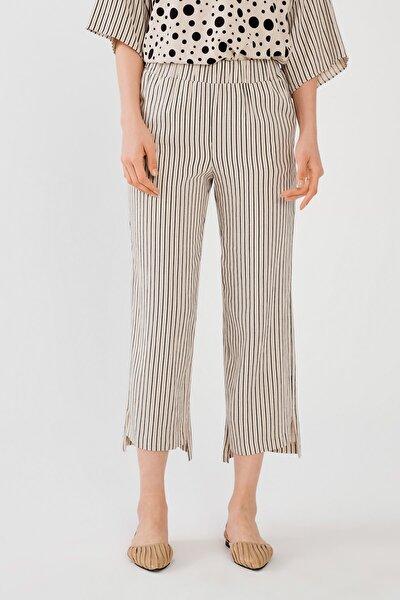 Kadın Siyah Beli Lastikli Pantolon