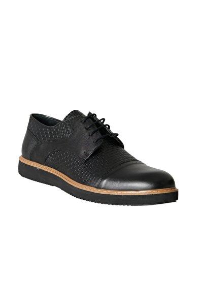 Erkek Siyah Casual Rahat Deri Ayakkabı
