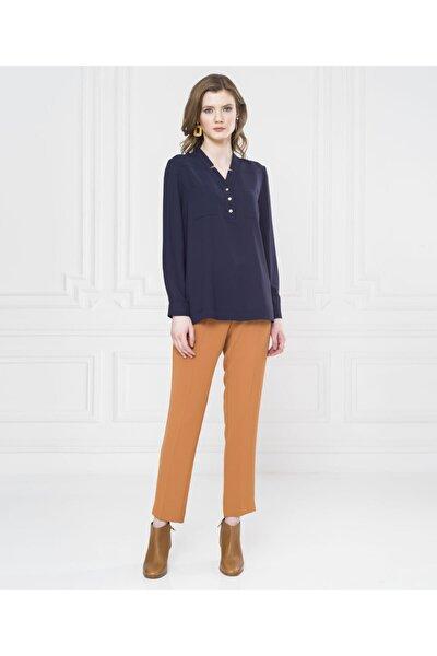 Kadın Mavi Düğmeli Bluz U22289510