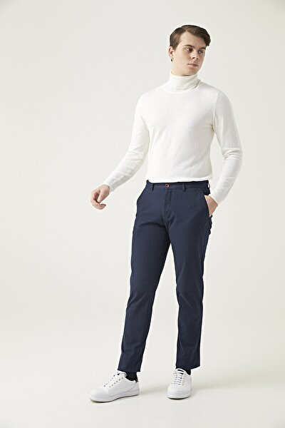 Lacivert Renk Erkek  Pantolon (Slim Fit)