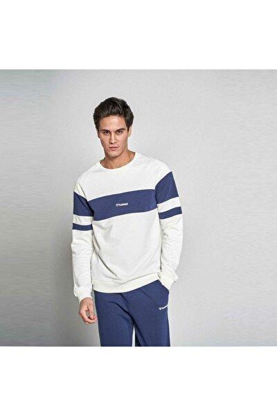 Erkek Beyaz Mavi Pallas Sweatshirt