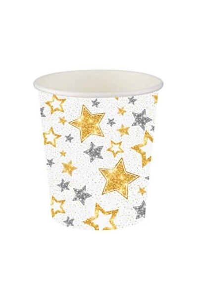 Karton Bardak Yıldızlar Beyaz