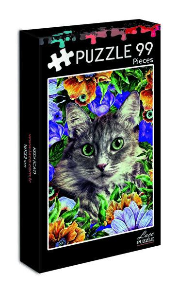 99 Parça Mini Puzzle Kedi