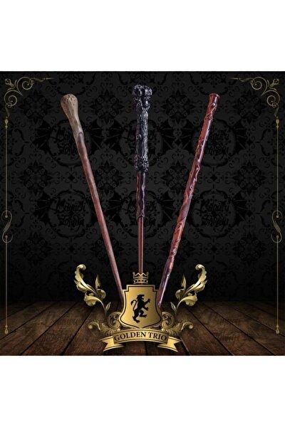 Davet Mektubu Harry Potter Golden Trio Asa Seti Altın Üçlü