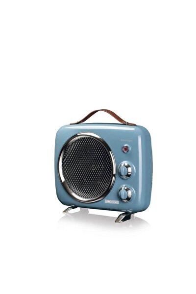 Vintage Fanlı Isıtıcı Ve Soğutucu Mavi
