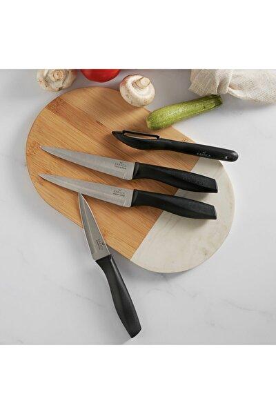 Peel Siyah 4 Parça Bıçak Seti