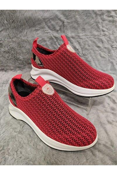 Kadın Kırmızı Günlük Spor Ayakkabı