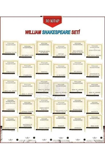 William Shakespeare Serisi 30 Kitap