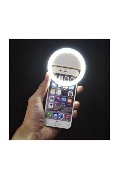 Selfie Işığı 3 Kademeli Led Aydınlatma Telefon Aparatı Uyumlu