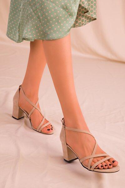 Ten Süet Kadın Klasik Topuklu Ayakkabı 15845