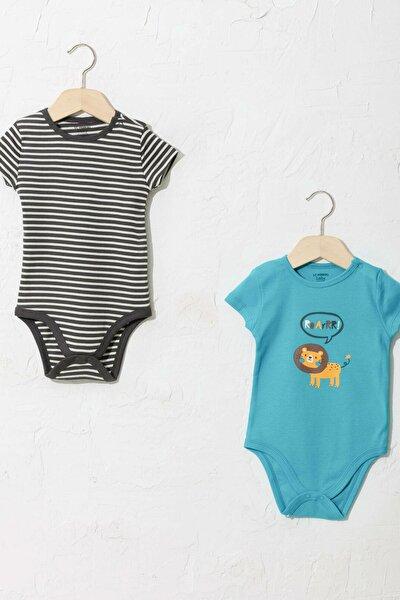 Erkek Bebek Turkuaz Gbs Bebek Body & Zıbın