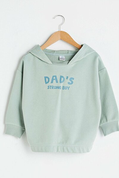 Erkek Bebek Suyeşili Qmx Sweatshirt