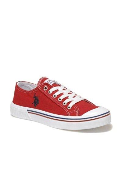 Kadın Kırmızı Keten Ayakkabı