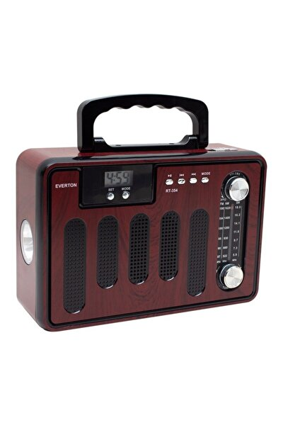 Rt-354 Nostaljik Prototip Radyo Müzik Kutusu Bluetooth Usb Saatli