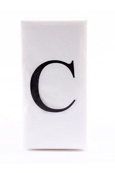 C Harf Peçete 33x33 Cm