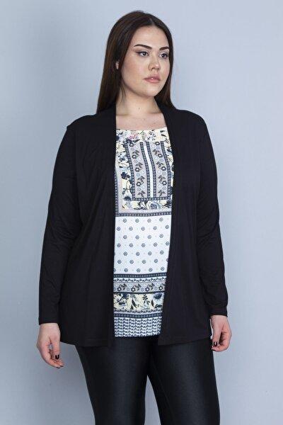 Kadın Siyah İkili Görünümlü Tek Parça Bluz 65N23082