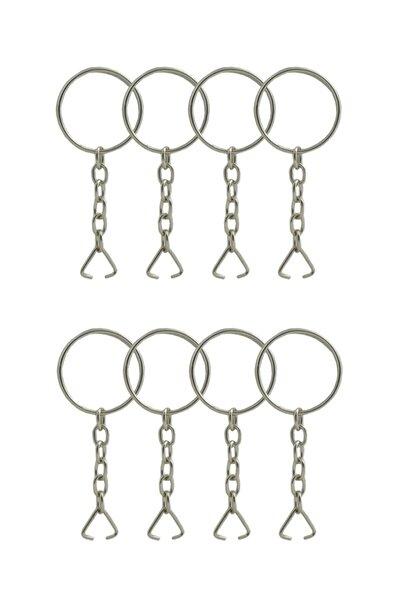 Anahtarlık Halkası Zincirli 5 Cm-100 Adet Montaj Üçgeni Dahil