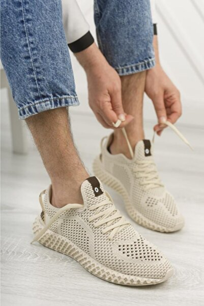 Erkek Bej Sneaker
