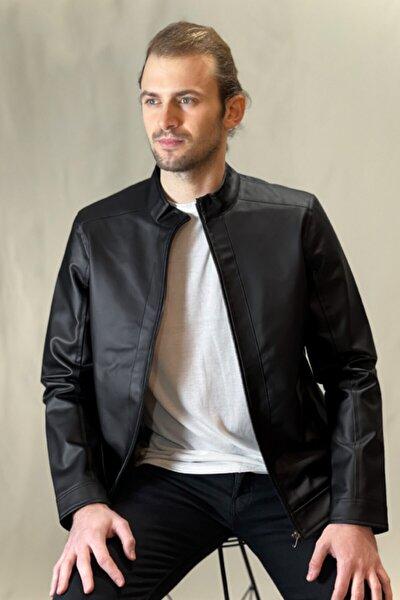 Erkek Siyah Düz Ceket