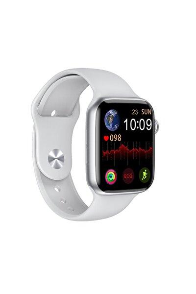 Iphone Ve Android Uyumlu Watch 6 Plus Son Nesil Beyaz Yan Düğme Ileri Geri Ve Yakınlaştırma Aktif