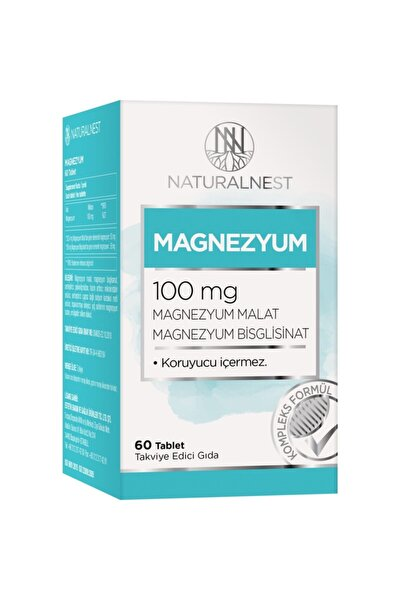 Naturalnest Magnezyum 100 Mg 60 Tablet