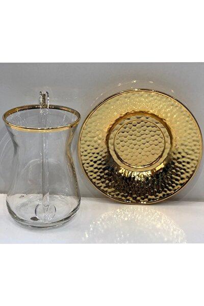 Çay Bardağı Seti 18 Parça Altın