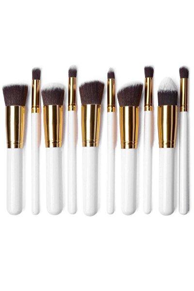 Beyaz Beauty Makyaj Fırça Seti 10'lu