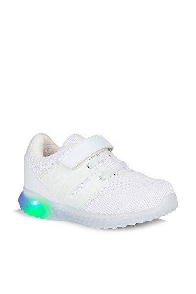 Flash Unisex Çocuk Beyaz Spor Ayakkabı