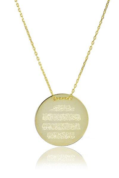Nazar Duası Kolye - Sarı Altın