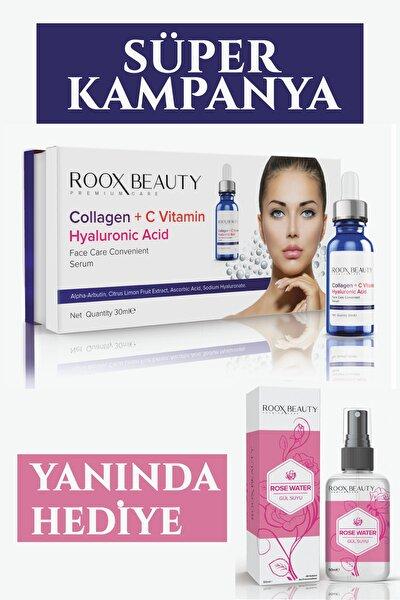 Kolajen - C Vitamini - Hyaluronik Asit Aydınlatıcı Ve Kırışıklık Karşıtı Yüz Serumu 30 ml